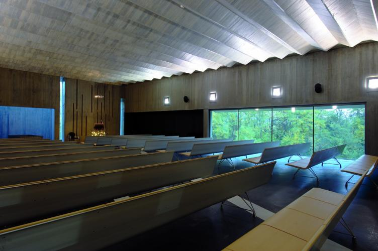 Funeral House in Girona (Spain), AERO aluminium bench