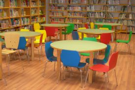 FRANCISCO PINO Library, Civic Centre Huerta del Rey, in Valladolid (Spain). AMAIA kids chair.
