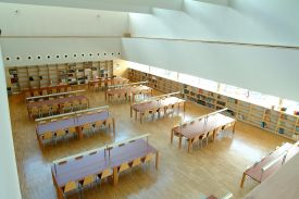 Civic Centre Library, Oviedo(Spain). JAKIN shelving and table  system.