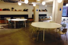 Spaces Co-Working Coffee-shop in Amsterdam (Holland). FAST table.