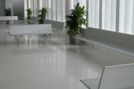 Parquesol Healthcare center in Valladolid (Spain). AERO aluminium bench.