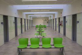 Salburua Health Care Center in Vitoria (Spain). SLAM seating beam