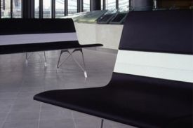 London City Hall (Uk). AERO aluminium bench.
