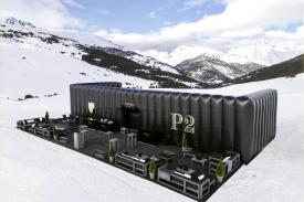 The Dom Perignon Lodge, Baqueira Beret (Spain). HAMMOK Cantilever