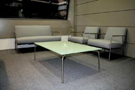 Torre Pelli - Iberdrola, Bilbao (Spain). EKER table. VALERI lounge chair.