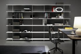 ZUMM shelving-unit. TALLE chair. HANKA table.