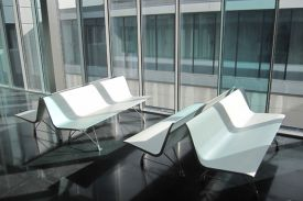 TRES MARES Hospital in Reinosa, Cantabria (Spain). AERO aluminium bench