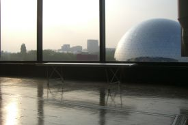 City of Sciences, Paris (France). AERO aluminium bench.