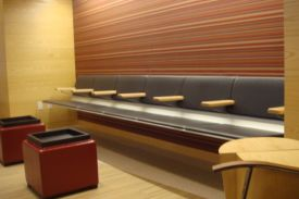 Major League Baseball Headquarters, New York (USA). AERO aluminium bench.