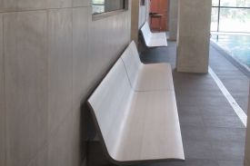 Next Generation Club, Auckland (New Zealand). AERO aluminium bench