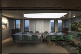 Nitrogenmuvek offices in Budapest (Hungary). LORCA Table
