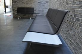 Ringsted Funeral House (Denmark). AERO aluminium bench