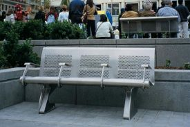 Union Square, San Francisco (USA). Vacante bench.