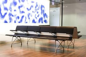 Wintherthur Hospital (Switzerland). AERO aluminium bench