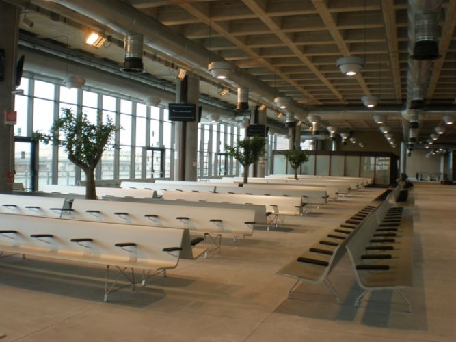 AERO Bench in waiting areas at Cruises Terminal in Venezia, Italy