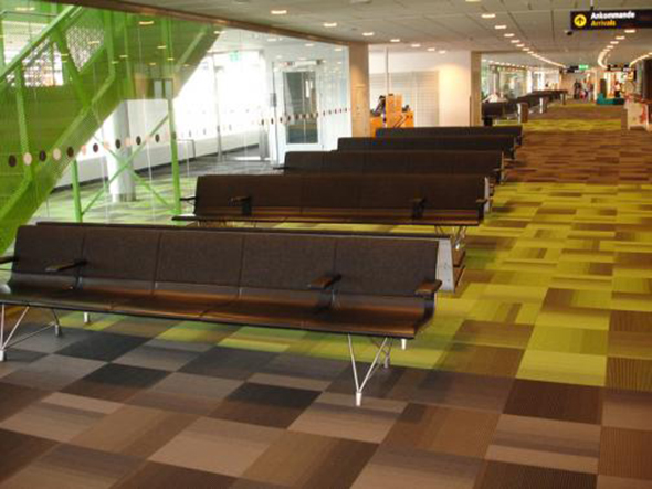 Passenger Terminal 2 at Arlanda Airport(Stockholm-Sweden)  has been equipped with AERO benches