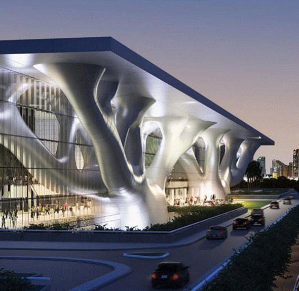 Le Qatar National Convention Center de Doha (Qatar)  a choisi le banc Aero