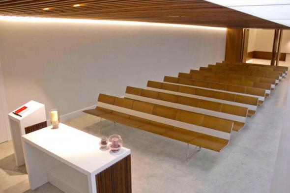 AERO  Benches in Funeral Home Chapels