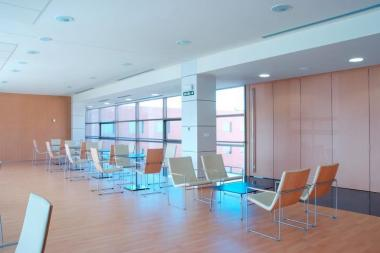 HAMMOK Chairs and Lounge Chairs in waiting rooms at San Miguel Hospital