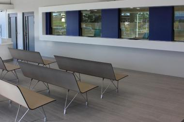 AERO Benches compact in waiting areas of companies