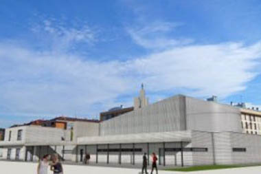 The new Santa Clara Church in Zabalgana-Vitoria will be furnished with VACANTE bench (Enric Miralles