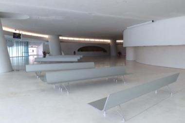 AERO benches in waiting areas of cruise terminals
