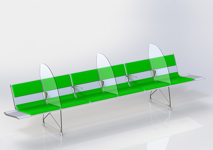 AERO Bench with protective screens
