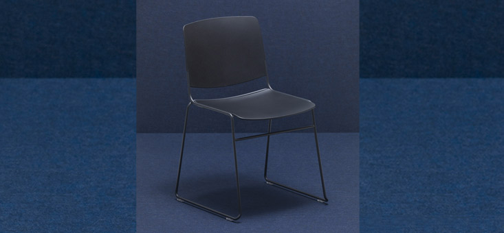 Recycled plastic chairs (polypropylene