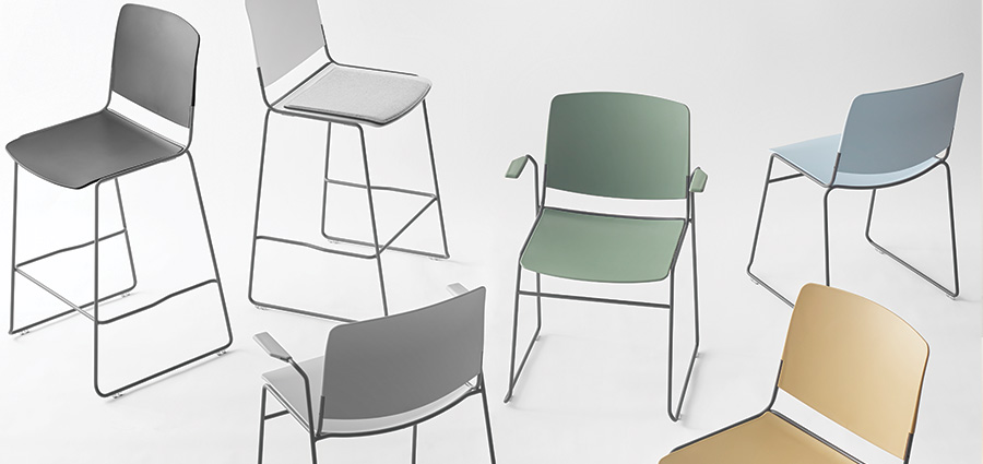 MASS stackable seating chair, multi-purpose chair