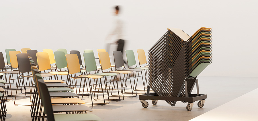 MASS stacking chair up to 40 units
