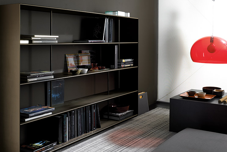 ZUMM shelving unit with 5 shelves & side covers