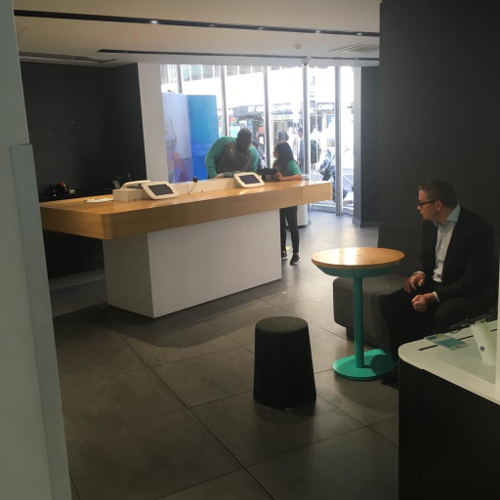 EE (British Telecom) Store, London (United Kingdom). HANDY Stool