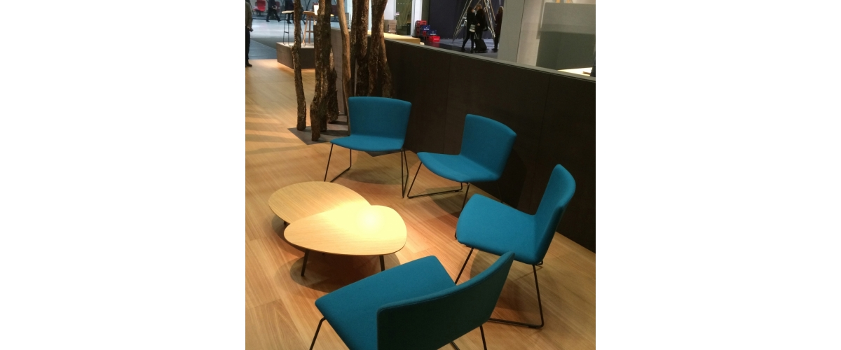 Feria de Orgatec 2016. ZUBI, SET, SLAM Lounge, BACK Modular Seating.